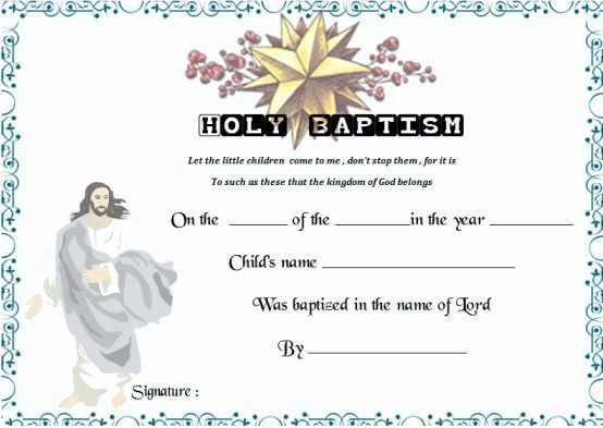 Free Editable Baptism Certificate Template Unique 30 Baptism Certificate Templates Free Samples Word