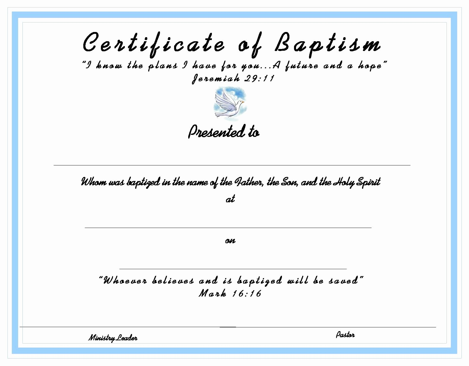 Free Editable Baptism Certificate Template Unique Baptism Certificate for Your