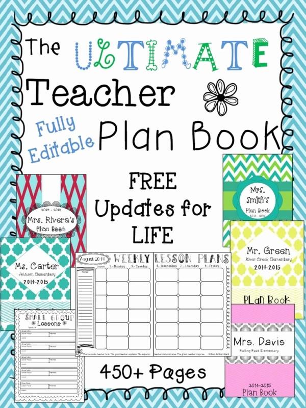 Free Editable Calendar for Teachers Awesome 2014 2015 the Ultimate Teacher Plan Book Editable