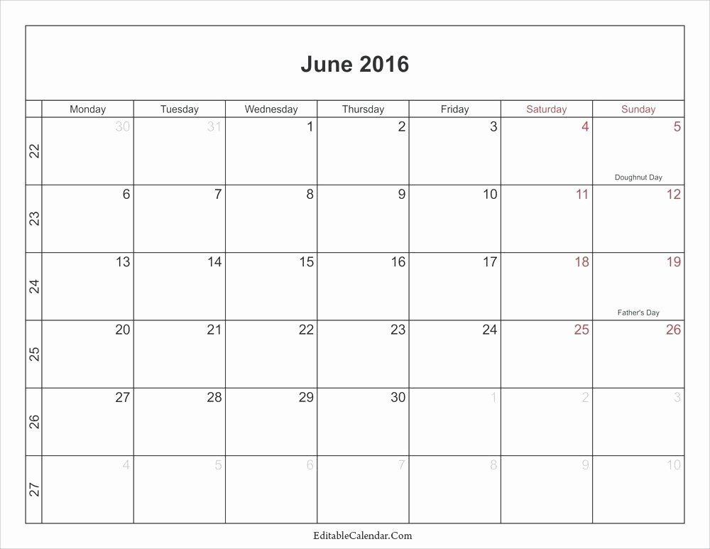 Free Editable Calendar for Teachers Best Of Editable 2016 Calendar Printable for Teachers