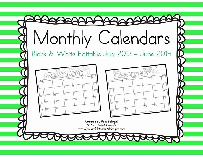 Free Editable Calendar for Teachers Elegant Monthly Editable Calendars 2017 2018