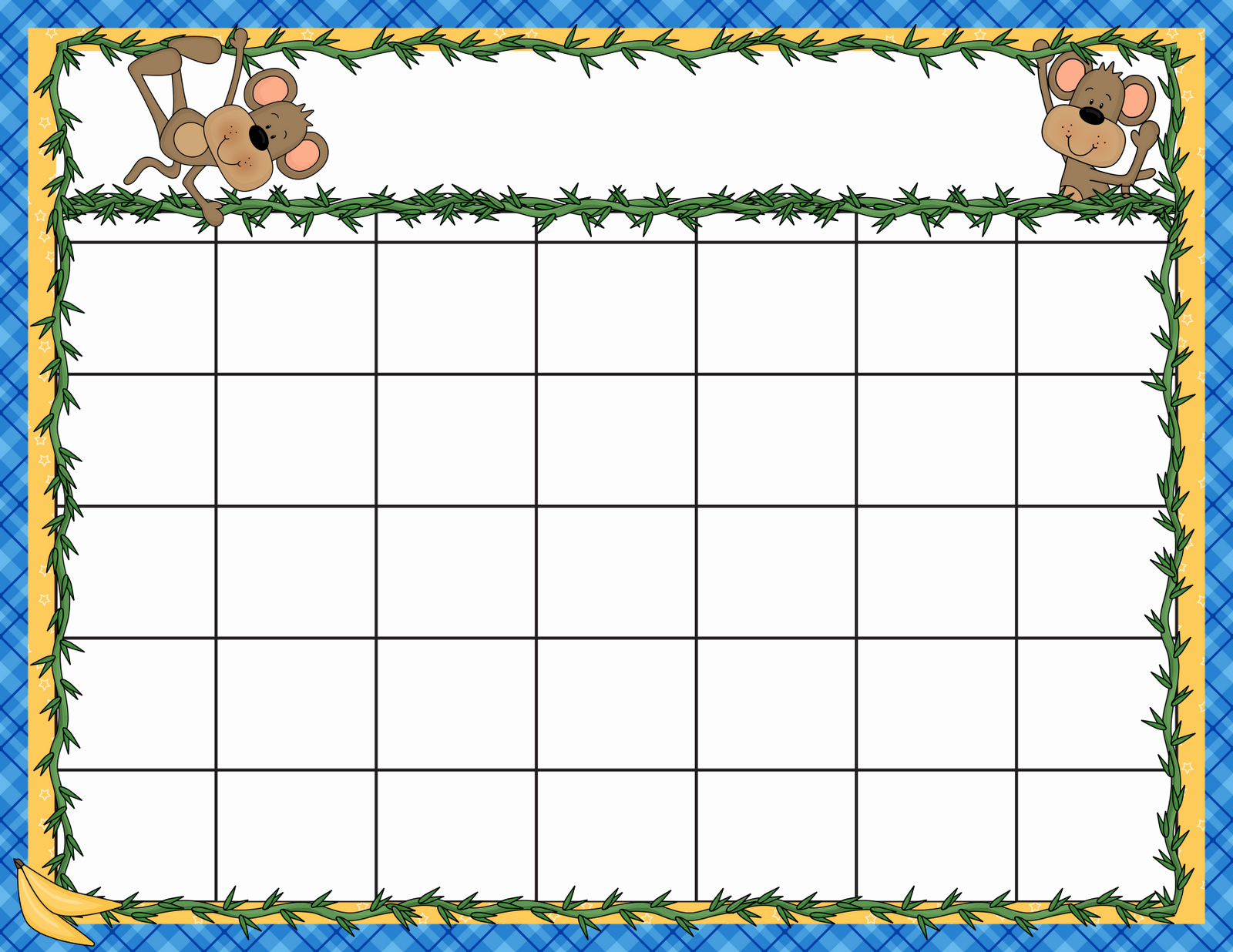preschool calendar clipart