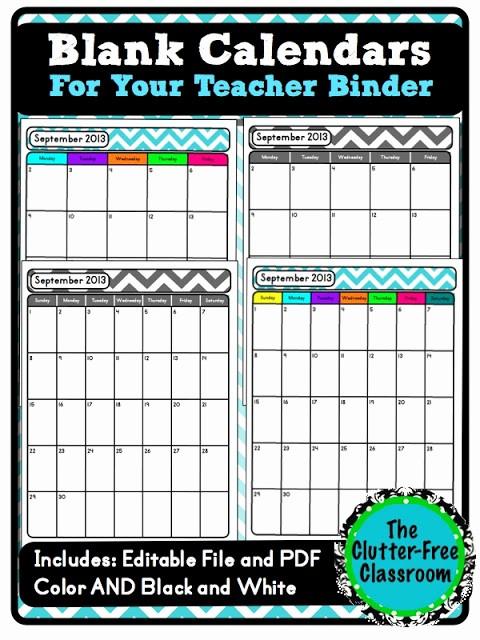 "Free Editable Calendar for Teachers Fresh Stay ""up to Date"" with A School Calendar Teacher Binder"
