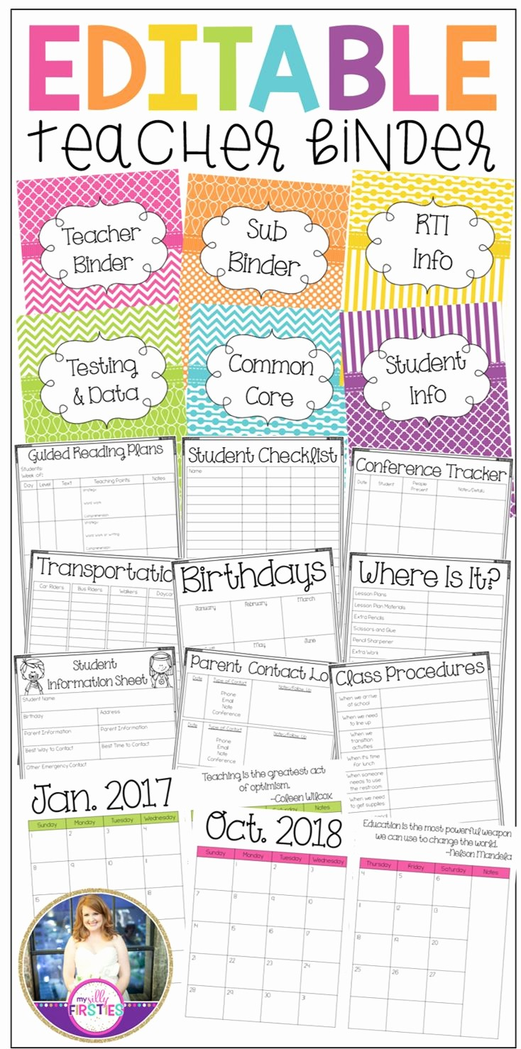 Free Editable Calendar for Teachers Inspirational Ly Best 25 Ideas About Binder Spine Labels On Pinterest