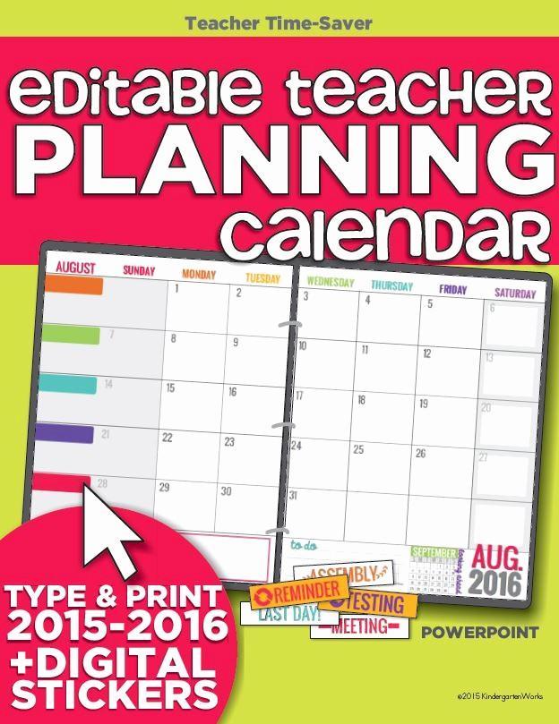 Free Editable Calendar for Teachers Inspirational Printable Calendar 2015 2016 Calendar Template