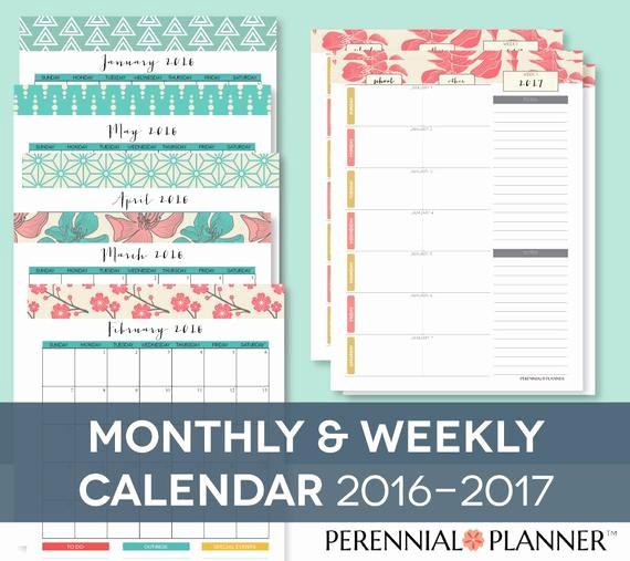 Free Editable Calendar for Teachers Lovely Items Similar to Homeschool Monthly Calendar & Weekly
