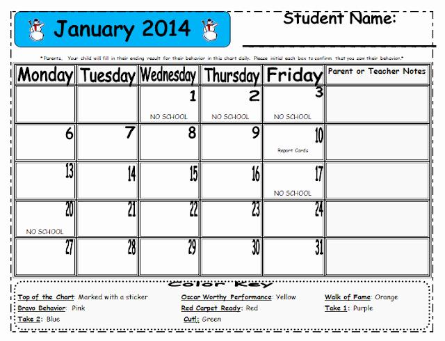 Free Editable Calendar for Teachers Luxury Lasota S Little Learners Free 2013 2013 Editable Behavior