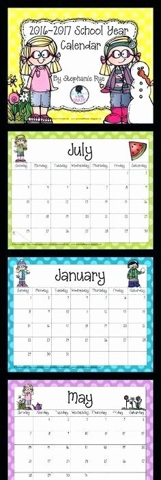 Free Editable Calendar for Teachers New Editable 2016 Calendar Printable for Teachers
