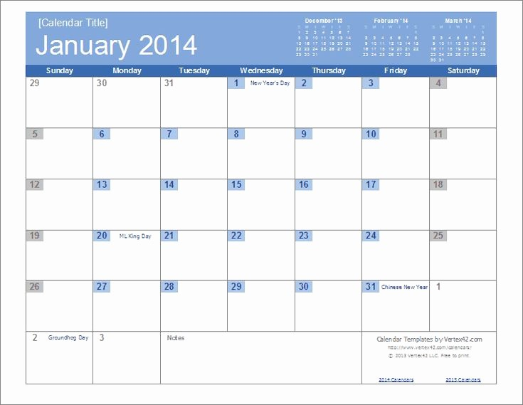 Free Editable Calendar Template 2015 Beautiful An Easy to Edit 2014 Calendar Template for Excel