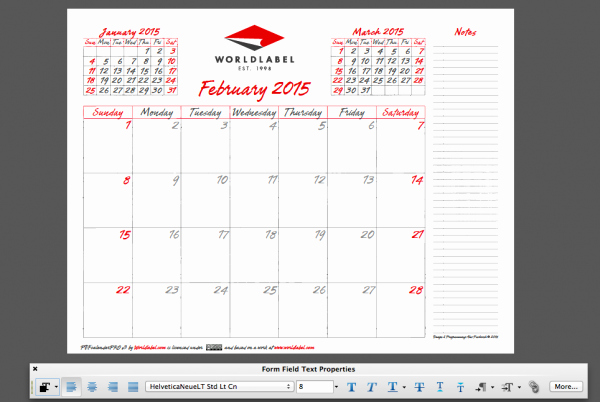 Free Editable Calendar Template 2015 Best Of 2015 Editable Fillable Pdf Calendar Template From