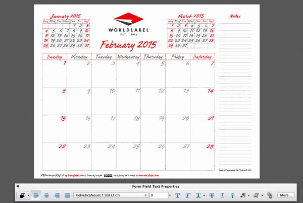 Free Editable Calendar Template 2015 Best Of 2015 Editable Fillable Pdf Calendar Template From