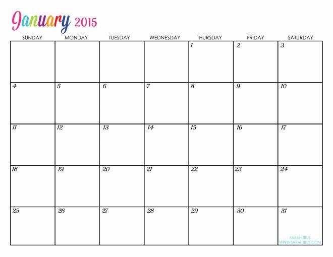 Free Editable Calendar Template 2015 Elegant Custom Editable Free Printable 2015 Calendars Sarah Titus