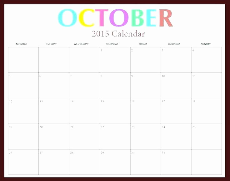 Free Editable Calendar Template 2015 Elegant Free Printable 2015 Monthly Calendar Templates Editable