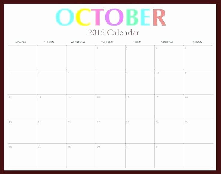 Free Editable Calendar Template 2015 Elegant Free Printable 2015 Monthly Calendar Templates Editable