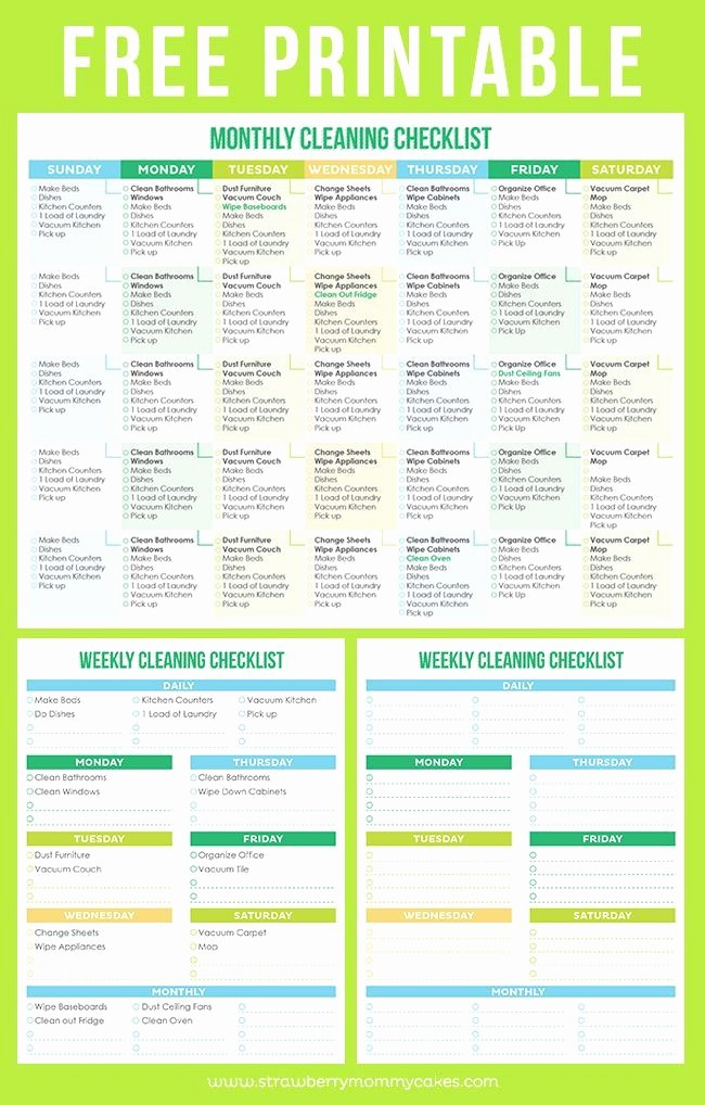 Free Editable Cleaning Schedule Template Best Of Free Printable Cleaning Schedule to Help You Maintain A