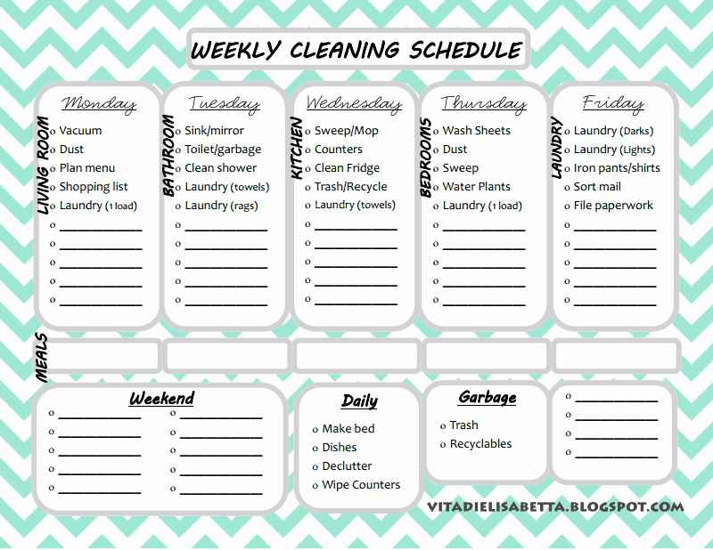 Free Editable Cleaning Schedule Template Elegant Cleaning Checklist Template