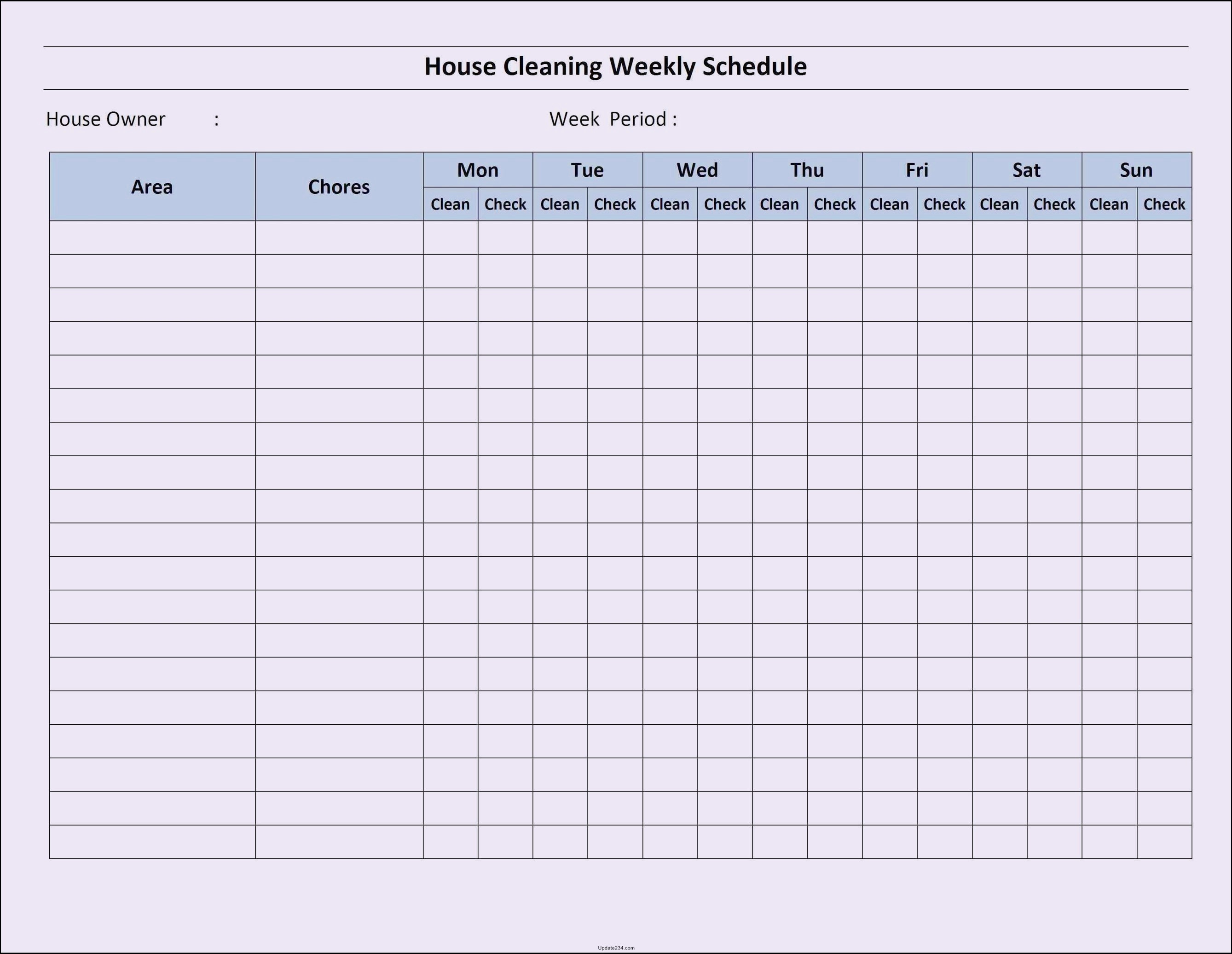 Free Editable Cleaning Schedule Template Fresh Blank Checklist Template Word 2010 Template Update234