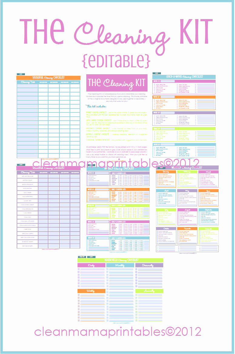 Free Editable Cleaning Schedule Template Inspirational 31 Days to A Clean House Archives Clean Mama