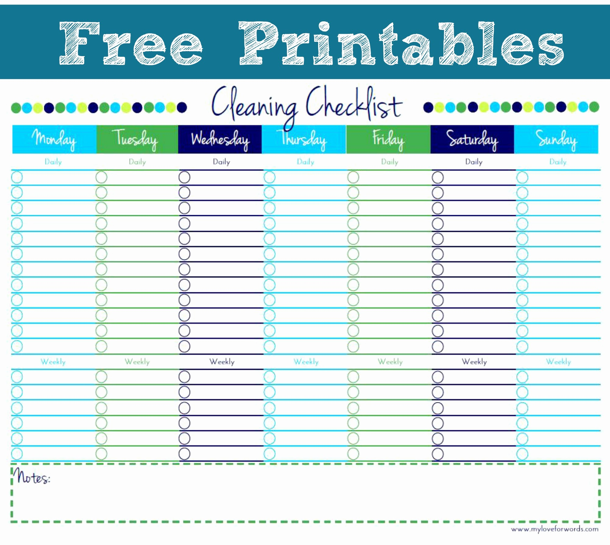 Free Editable Cleaning Schedule Template Lovely Free Printable Personal House Cleaning Checklist Template