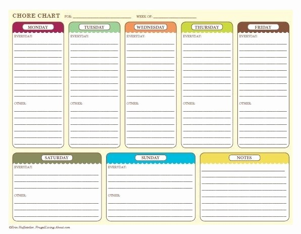 Free Editable Cleaning Schedule Template Luxury Free Printable Weekly Chore Charts