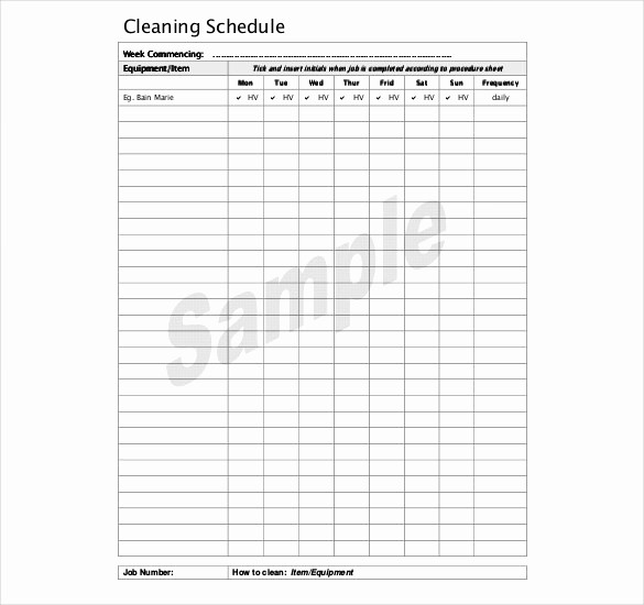 Free Editable Cleaning Schedule Template Unique 35 Cleaning Schedule Templates Pdf Doc Xls
