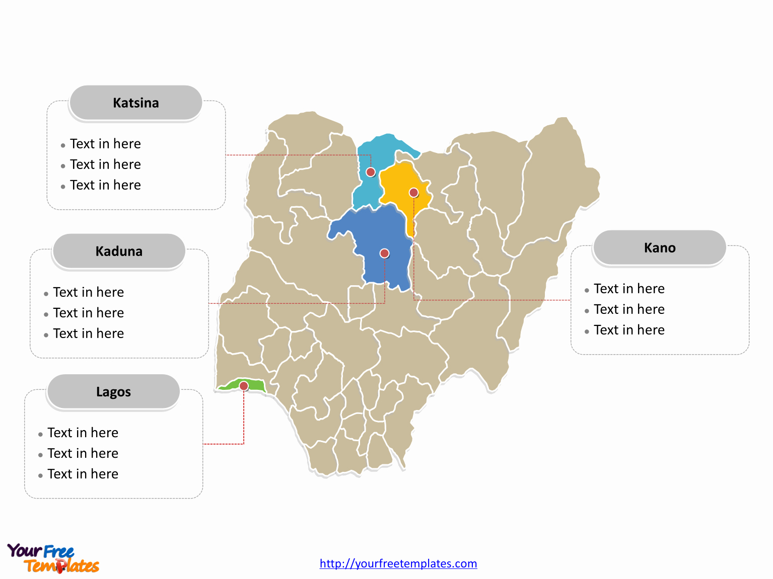Free Editable Map Of Us Awesome Free Nigeria Editable Map Free Powerpoint Templates