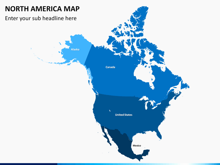 Free Editable Map Of Us Elegant north America Map Powerpoint