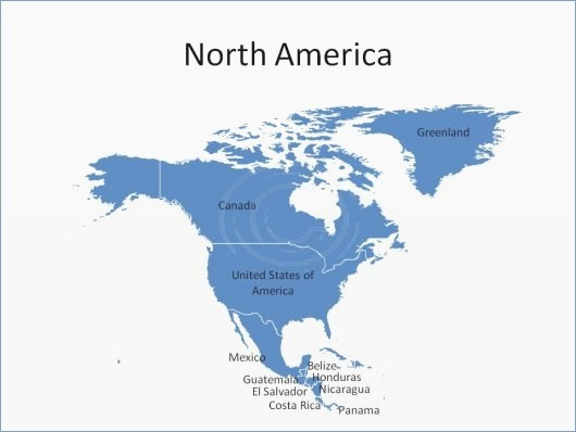 Free Editable Map Of Us Unique north America Map Powerpoint – Playitaway