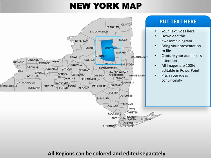 Free Editable Maps Of Usa Awesome Usa New York State Powerpoint County Editable Ppt Maps and