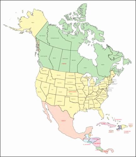 Free Editable Maps Of Usa Elegant Free Map Of north America Holidaymapq