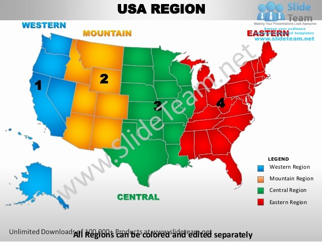 Free Editable Maps Of Usa Elegant Usa Western Region Country Editable Powerpoint Maps with