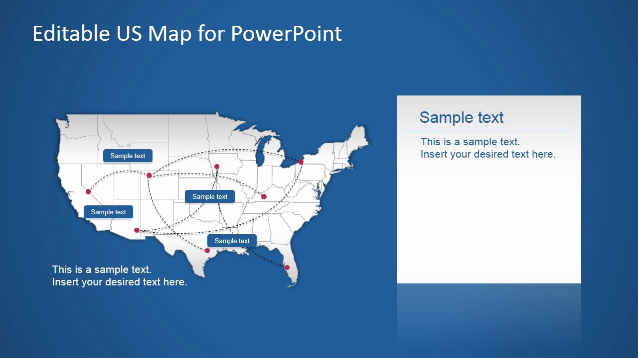 Free Editable Maps Of Usa Fresh Us Powerpoint Map with Routes Slidemodel