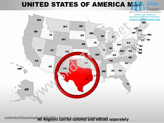 Free Editable Maps Of Usa Inspirational Editable Vector Business Usa Texas State and County