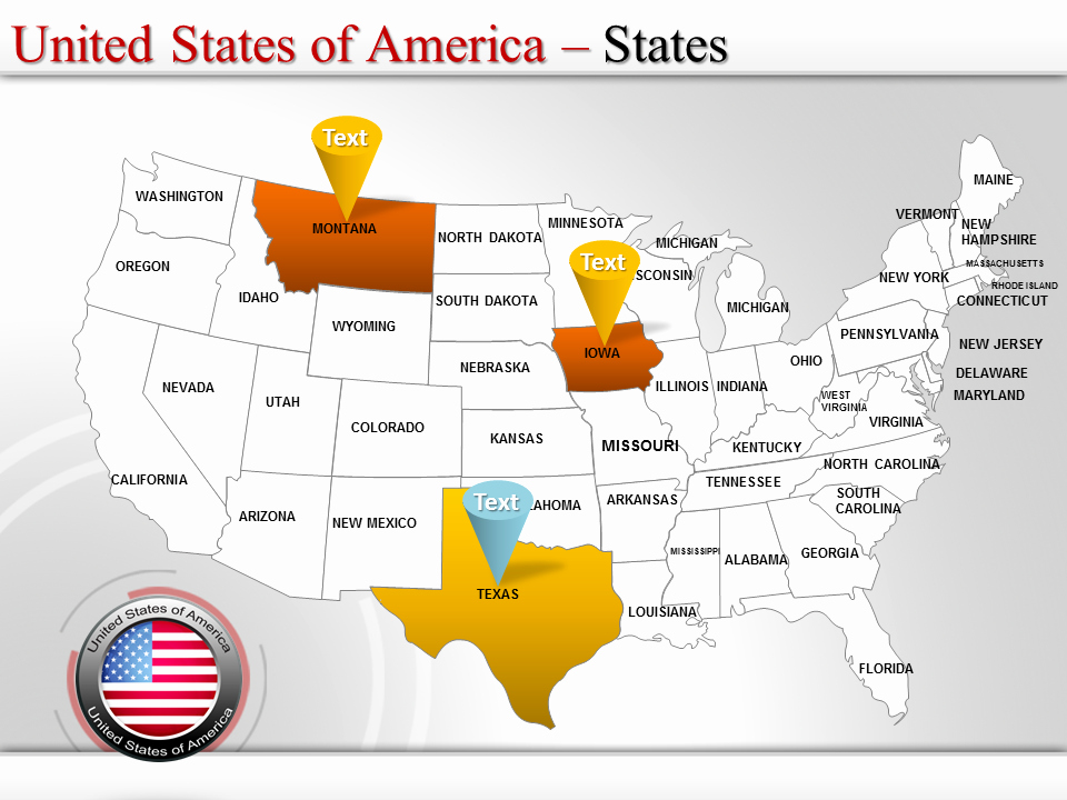 Free Editable Maps Of Usa Lovely Us Map Template Powerpoint Map Of Usa Editable Map Of Usa