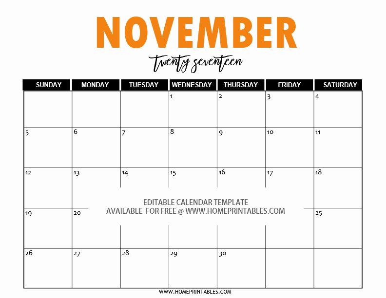 Free Editable Printable Calendar 2017 Beautiful Free Editable 2017 Calendar In Word Pretty Template