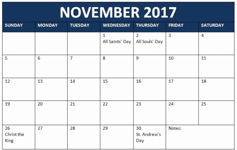 Free Editable Printable Calendar 2017 Best Of November 2017 Calendar Editable