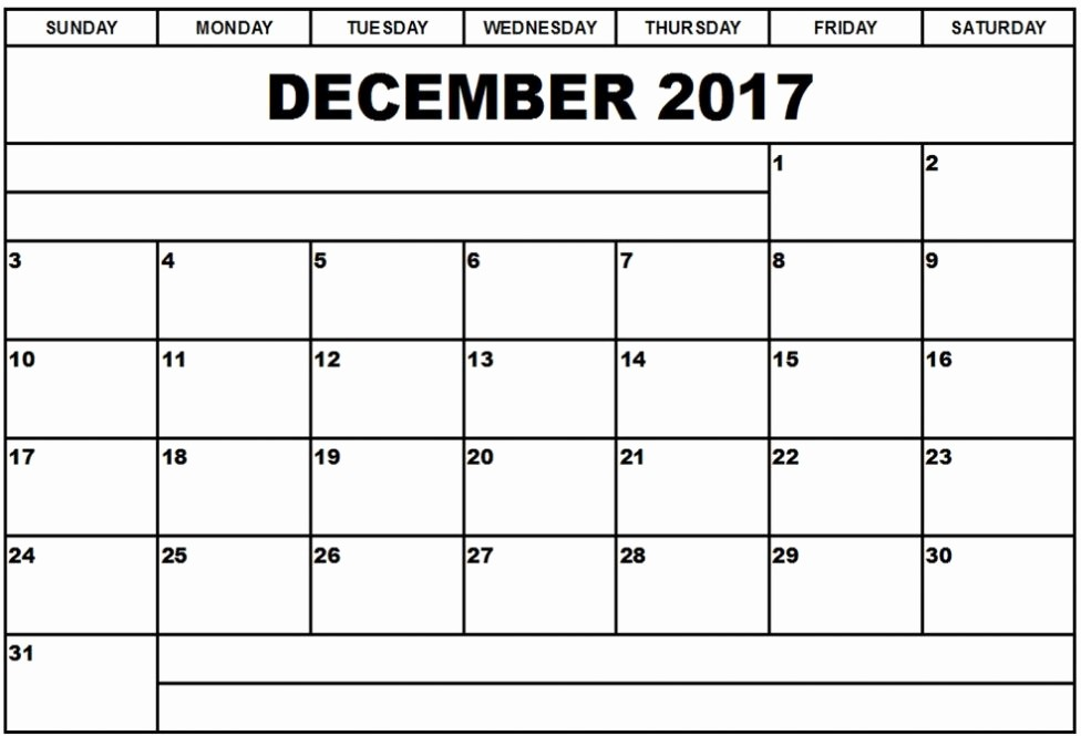 Free Editable Printable Calendar 2017 Fresh December 2017 Calendar Editable