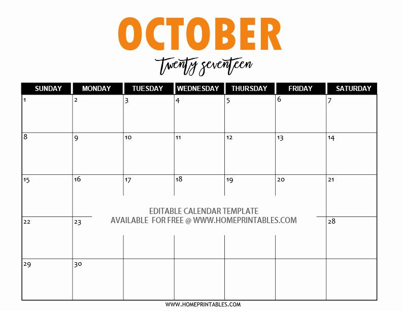 Free Editable Printable Calendar 2017 Inspirational Free Editable 2017 Calendar In Word Pretty Template