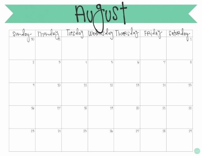 Free Editable Printable Calendar 2017 Lovely Cute Free Editable Printable Monthly Calendar