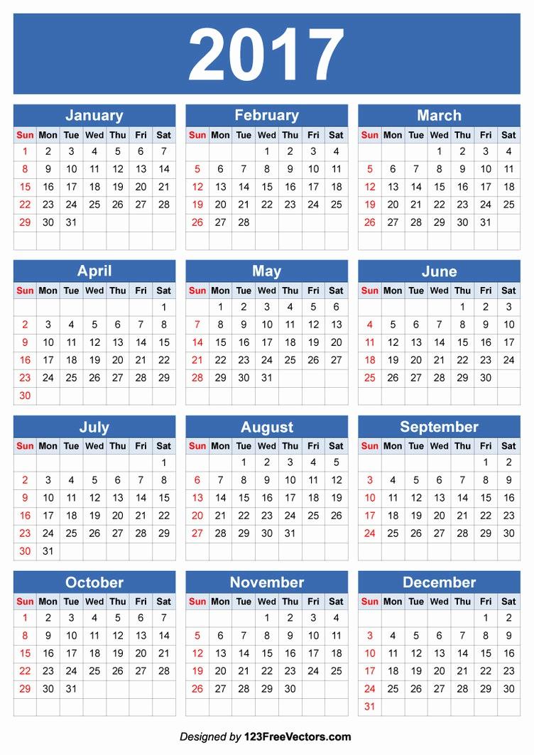 Free Editable Printable Calendar 2017 New 2017 Calendar Vector Editable by 123freevectors On Deviantart