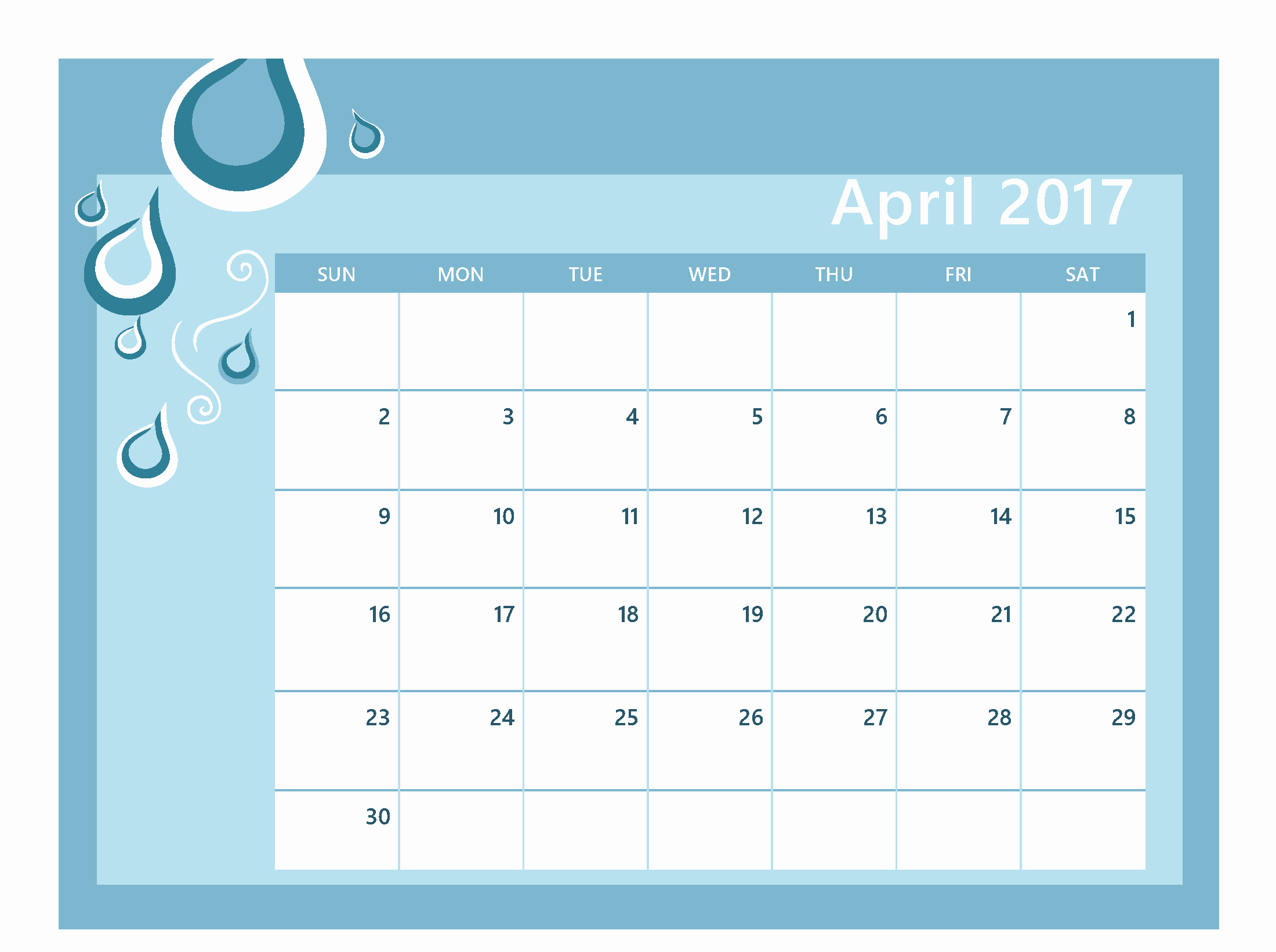 Free Editable Printable Calendar 2017 New April 2017 Calendar Editable Calendar and