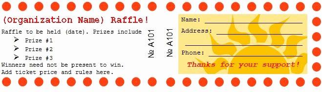 Free Editable Raffle Ticket Template Beautiful 41 Free Editable Raffle & Movie Ticket Templates Free