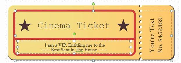 Free Editable Raffle Ticket Template Elegant 40 Free Editable Raffle & Movie Ticket Templates