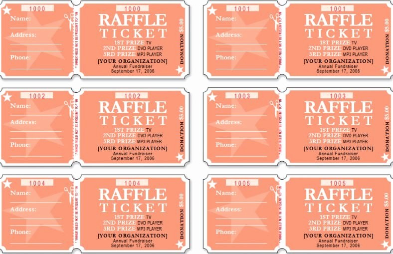 Free Editable Raffle Ticket Template Fresh Raffle Ticket Templates Word Templates Docs