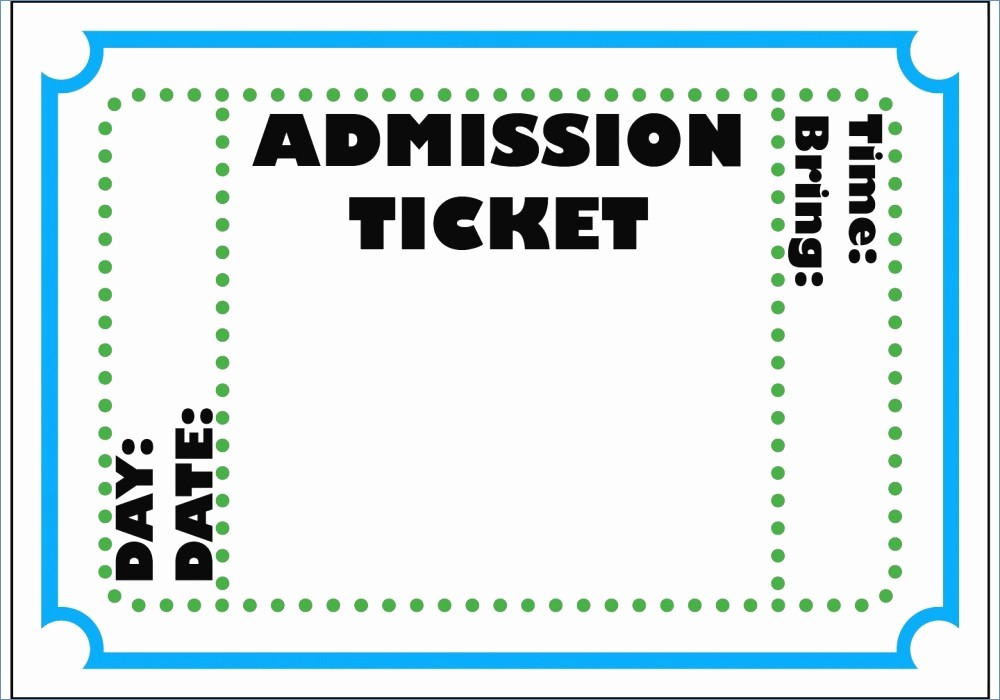 Free Editable Raffle Ticket Template Inspirational Editable Ticket Template Free