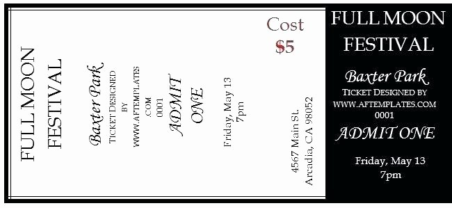 Free Editable Raffle Ticket Template New Printable Raffle Ticket Templates Sample event Tickets