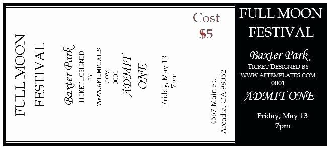 Free Editable Raffle Ticket Template New Printable Raffle Ticket Templates Sample event Tickets