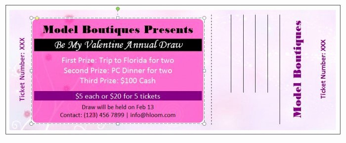 Free Editable Raffle Ticket Template Unique 41 Free Editable Raffle & Movie Ticket Templates Free