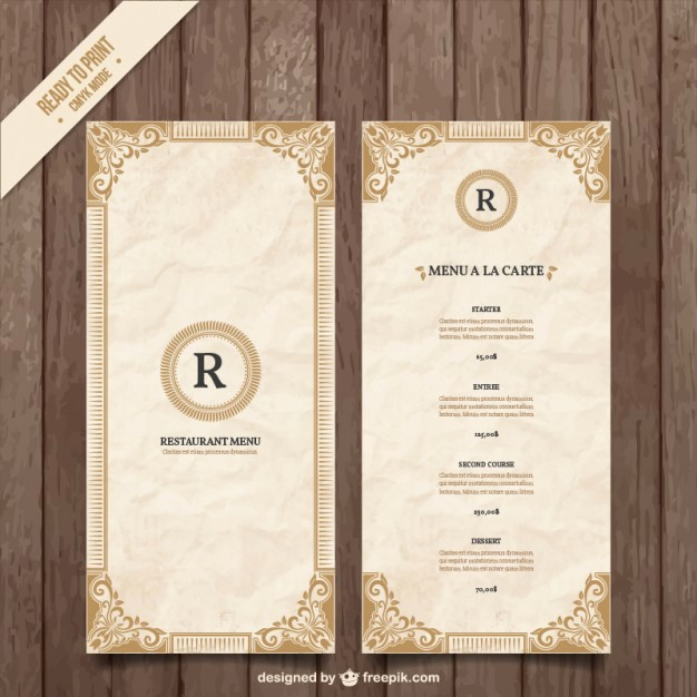 Free Editable Restaurant Menu Templates Awesome ornamental Menu Template Vector