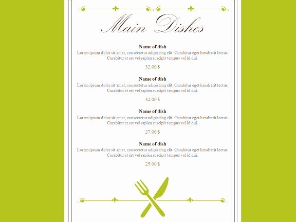 Free Editable Restaurant Menu Templates Awesome Restaurant Menu Powerpoint Template